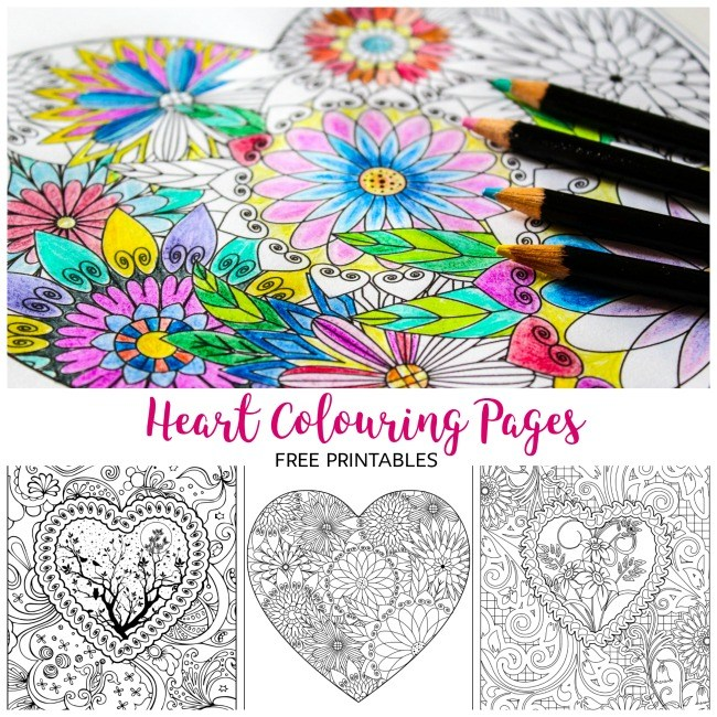 Youll Surely Enjoy Colouring With Your Kids Using These Heart Printables From Arty Crafty